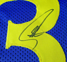STEPHEN CURRY / AUTOGRAPHED GOLDEN STATE WARRIORS BLUE CUSTOM JERSEY / COA image 5