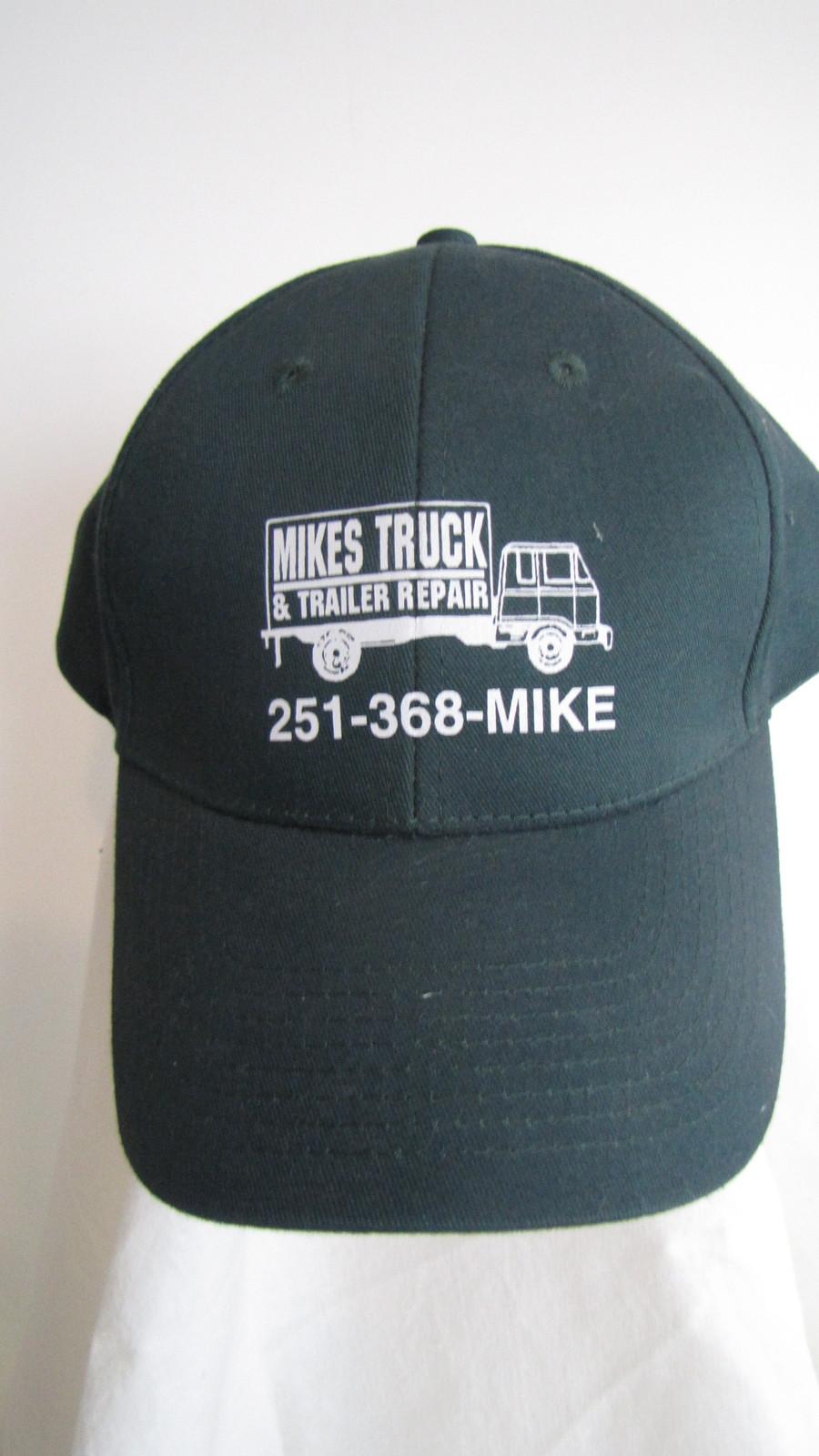 "Mikes Truck & Trailer Repair Alabama Green Baseball Trucker Hat Loop Lock ""NEW"""