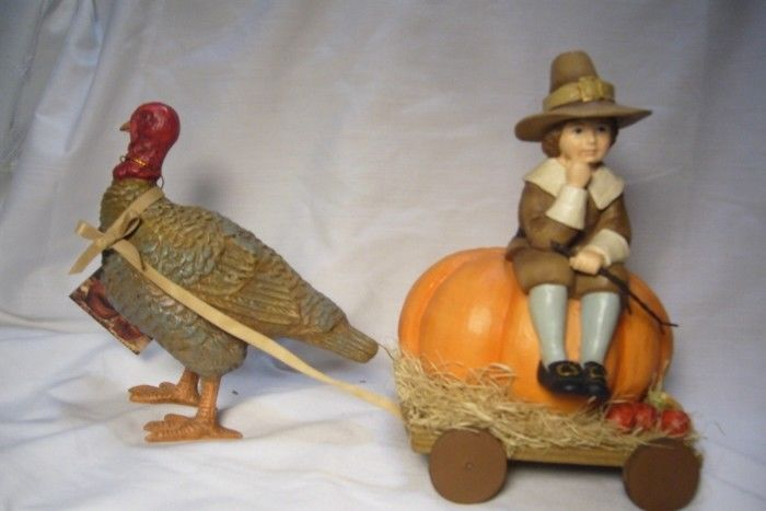 Bethany Lowe Thanksgiving Turkey Buggy