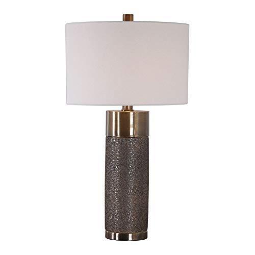 Uttermost Brannock Metallic Golden Bronze Ceramic Table Lamp