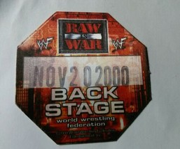 WWF back stage pass 2000 peel and press sticker - $5.50