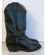 JUSTIN Harley Davidson BOOTS Black Leather Woman's 7 M Western Footwear  - £20.40 GBP