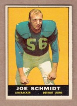 1961 Topps #36 Joe Schmidt Detroit Lions EX+ cond. no creases - $5.26