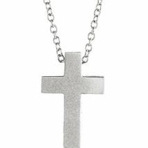 Défiler Croix 40.6-45.7cm Collier En 14K or Blanc - $317.20