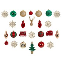 Holiday Deluxe Shatterproof, 25 Count Christmas Tree Ornament Box Set - $54.04