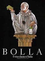 Mime Bolla Wine Grapes 1990 d'Italia Italian Mime Graphic Ad - $14.99
