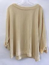 J. Jill PURE JILL XL Yellow Oversized 3/4 Sleeve Sweatshirt Top Pullover - $19.79