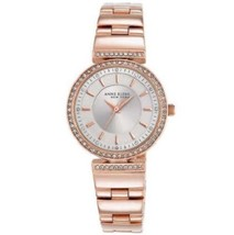 Anne Klein New York 12/2258SVRG Swarovski Crystal Rose Gold Tone Women's... - $48.50