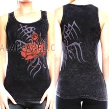 Vocal Top Size S M L XL Black Tribal Roses Crys... - $32.99