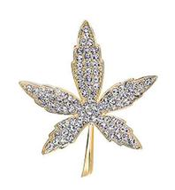 Men&Women Brooch Maple Crystal Brooch Sweater Pins Suit Accessories Badges image 1