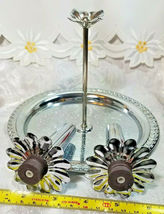 VINTAGE SALT AND PEPPER MAGNETIC TRAY WITH HANDLE METAL image 5