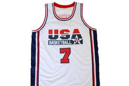 Shawn Kemp #7 Team USA Men Basketball Jersey White Any Size image 4