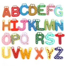Colorful Cute 26 Letters Wooden Cartoon Fridge ... - $3.75