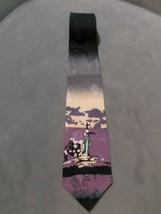 Le Space Silk Tie NASA Exclusive Designer Neck Tie Spaceship Rocket Made in USA - $14.50