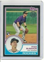 2018 Topps '83 Black Boarder #83-76 Ryan McMahon Rookie Card RC 37/299 - $5.89