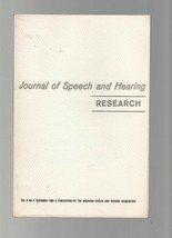 Journal of Speech & Hearing Research December 1965 Electrophysiological ... - $9.79