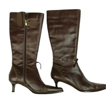Anne Klein 7 1/2 M Gavins Leather High Heel Boots - $61.86