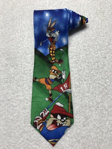 Primary image for Looney Tunes Mania Golf Men's Novelty Necktie Tie  Bugs Bunny Daffy Duck Taz