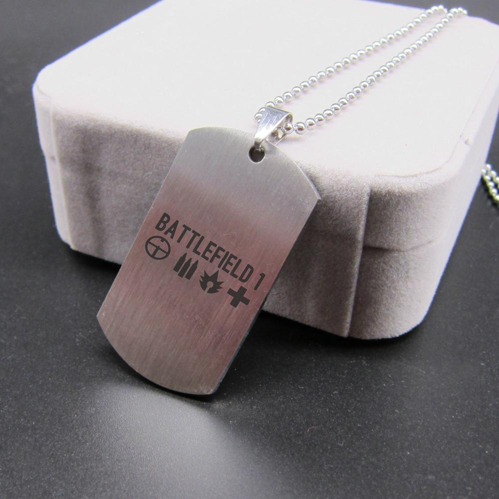 Battlefield 1 (BF1) Dog Tag Themed Stainless Steel Unisex Pendant / Necklace
