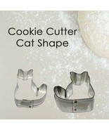 Cookie Cutter Fashion Cat Shape Tin Plated Pure Biscuit Mold Baking 1pc - $8.62