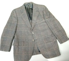 Vintage 100% Cashmere Men's Winter 2 Button Check Sports Coat Blazer 40 ... - $14.84