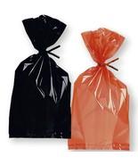 Halloween Goody Bags Orange & Black Cello Treat Bags Bulk Lot 6 Retail Pkgs - $17.81