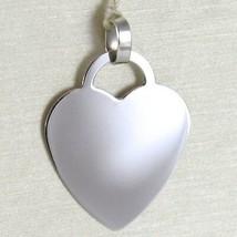 White Gold Pendant 750 18k Heart, incidibile, Length 2.3 cm, Made in Italy image 1