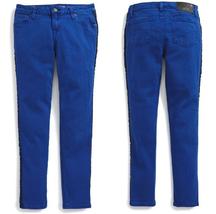 Ralph Lauren Jemma Tuxedo-Striped Jeans Pants, MARYANNE BLUE,Size 12,MSRP $59.5 - $24.74