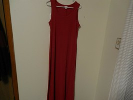 Lularoe Maxi Dress Size Large Solid Red Sleeveless A-line Dressy Scoop N... - $8.89
