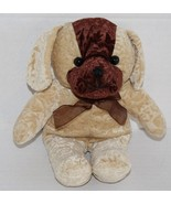 "A Mart DOG 9"" Flower Embossed Plush Stuffed Tan Brown Soft Toy Stuffed A... - $15.45"