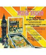 Big Ben Pinball FLYER 1975 Williams Original NOS Artwork Paper Sheet London UK - $20.44