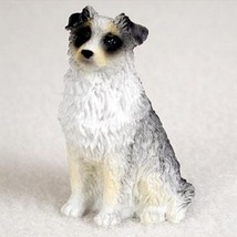 AUSTRALIAN SHEPHERD AUSSIE blue TINY ONES DOG Figurine Statue Pet Resin - $8.99