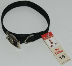 Valhoma 730 14 BK Dog Collar Black Single Layer Nylon 14 inches Package 1 image 1