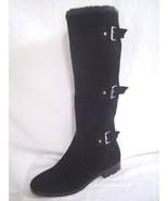 New Alfani Vermont Black Real SUEDE Buckle Boots sz 6 Shoes - $40.00