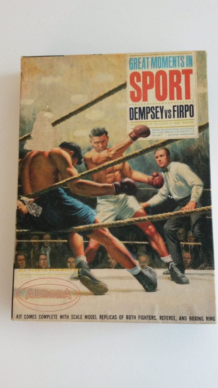 Primary image for  Vintage Aurora Model Kit Great Moments in Sports Dempsey vs Firpo