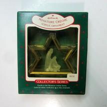 1988 Hallmark Miniature Creche Nativity Acrylic Ornament - 4th in the Se... - $10.50