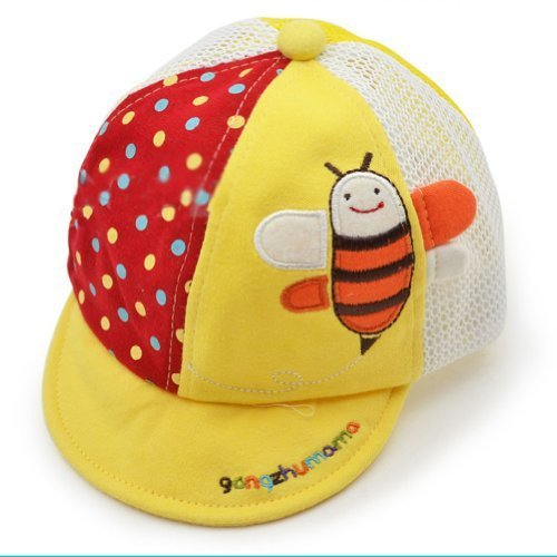 Breathable Infant Beaked Cap Baby Boy Sun Protection Hat Toddler Cap Yellow Bee