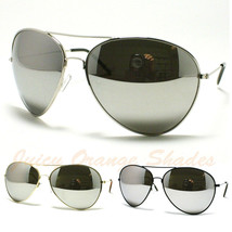 AVIATORS Sunglasses for MEN/WOMEN Super OVERSIZED Super DARK MIRROR LENS - $9.95
