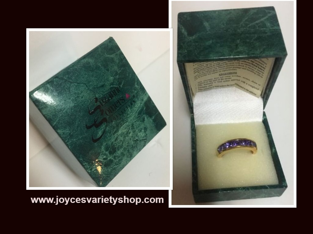 Suzanne vintage amethyst ring web collage