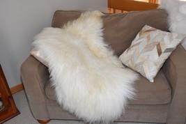 "Large Genuine Natural Bargain Icelandic Sheepskin Rug,Troll Wig,P195 50x34"" - $75.18"