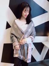 Gray Cashmere Scarf Fashion Flower Scarves Women Wrap L1033 - $22.99
