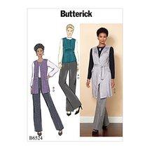 Butterick Patterns B6524E50 Misses' Vest/Belt and Pants E5 (14-16-18-20-22) - $7.79