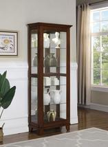 5-Shelf Curio Cabinet Chestnut And Clear - €401,29 EUR