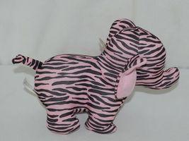 Baby Ganz Brand BG3192 Pink Black Zebra Print Ooh La La Plush Elephant image 3
