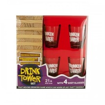 Drink Tower Wooden Block Drinking Game - $59.98