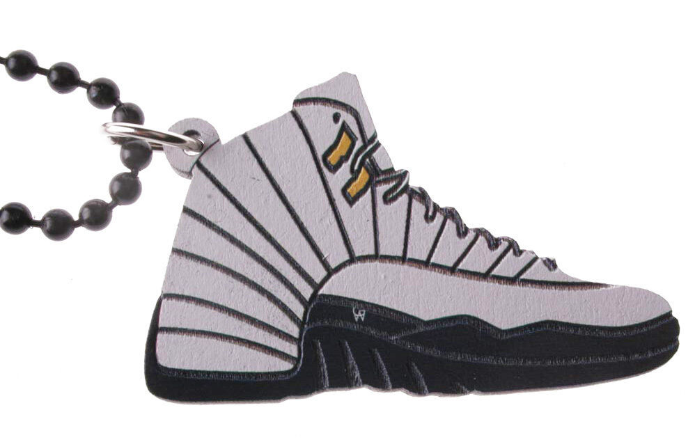 Good Wood NYC Taxi 12 Sneaker Necklace White/Black Shoe XII