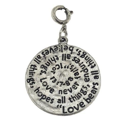 Jane Marie Scripture Charm Fits most standard size Charm Bracelets and Necklaces