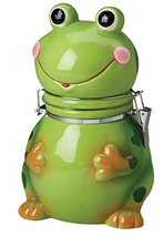 HandPainted Earthenware Frog Hinged Jar by Boston Warehouse h590 l450 w370 - $20.70