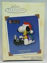 Hallmark Peanuts Literary Ace Spotlight on Snoopy 2002 Ornament Woodstoc... - $19.79