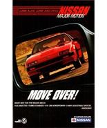 Rear View Mirror Nissan Major Motion 1985 AD 300ZX RED Automobile Advert... - $10.99